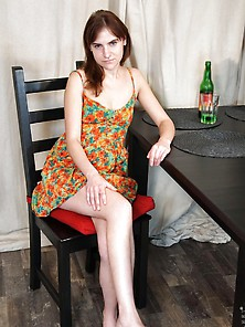 Excited Teen Strip Its Dress After Alcoholic Drink
