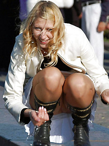 20-Squatting-Blonde-Wife-Pantyhose-Public-Unstaged-Upskirt. Jpg (