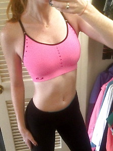 Athletic Ginger Teen Babe Shows Her Body