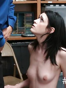 Teen Thief Caught By Security And Fucked In His Back Office