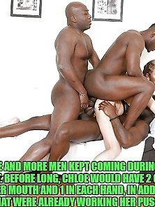 Celebrity Gangbang Captions #148 (Chloe)