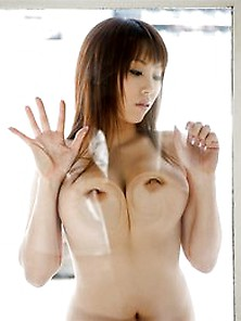 Asian Tits On Glass