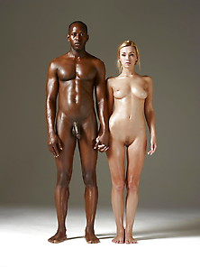 African Man Wth His Luscious Blonde Prize-Iii