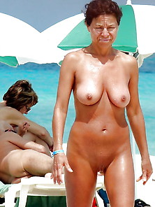 Mature On The Beach