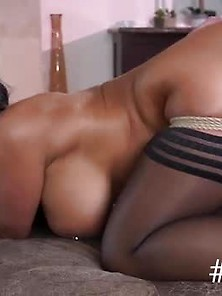 Tanned Huge Ass Milf Anal Fucked Bound