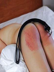 Disobedient Beginner Slaves Flogged With The Belt