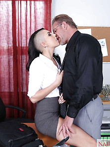 This Tattooed Honey Hooks Up With Her Horny Boss.